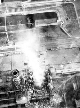 Az égő blokk Csernobilban