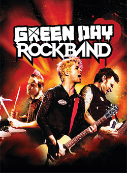 The official box cover art of Green Day: Rock Band
