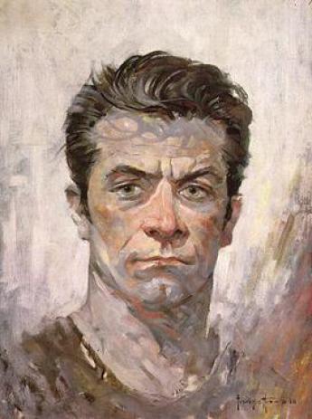 self paint pintura Frank Frazetta
