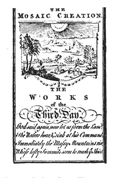 שבעת ימי הבריאה - ספר משנת 1765