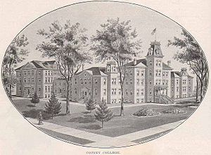 An illustration of Cottey College in Nevada, M...