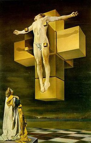Dali's Crucifxion on a hypercube