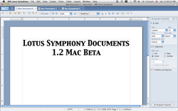 lotus symphony documents 1 2 beta on mac os x