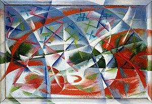 Giacomo Balla's Abstract Speed + Sound 1913-19...