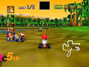 Mario Kart 64 was the first in the series to u...