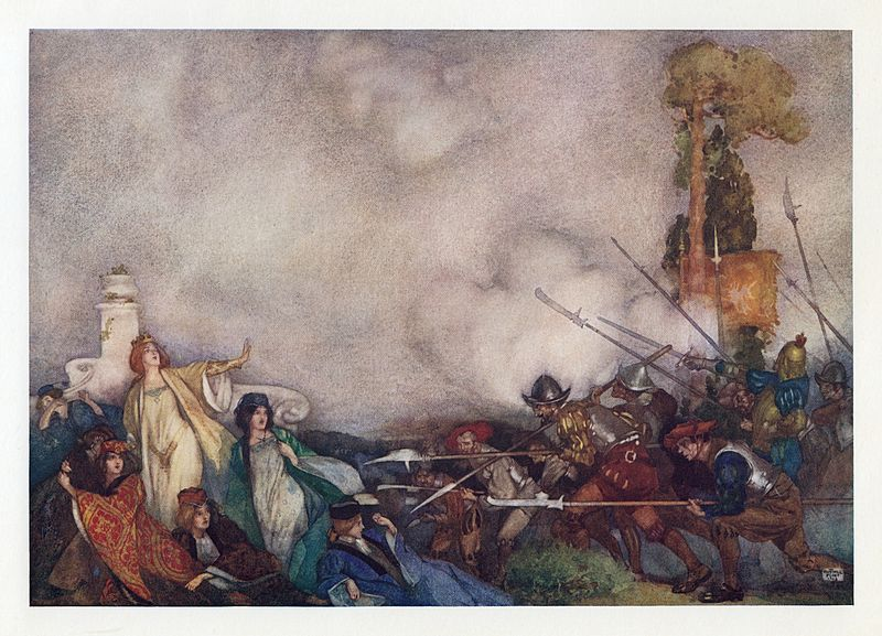 File:William Russell Flint - W. S. Gilbert - Savoy Operas - Princess Ida 6.jpg