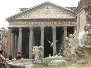 Roma, piazza della Rotonda, obelisco e Pantheon