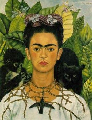 Frida Kahlo, Self-Portrait, 1940. See discussi...