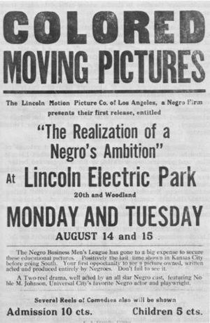 Poster: The Realization of a Negro's Ambition ...