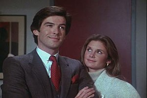 Pierce Brosnan and Stephanie Zimbalist in Remi...