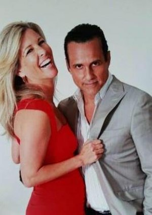Maurice Benard as Sonny and Laura Wright as Carly.