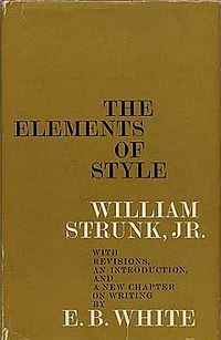 The Elements of Style, 2000 edition.