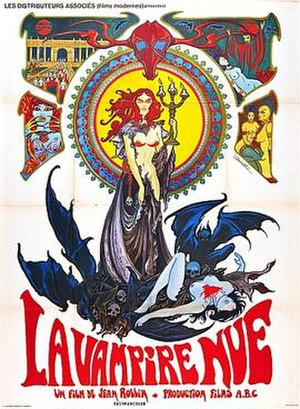 Film poster for La Vampire Nue - copyright 196...
