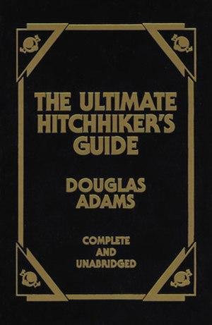 The front cover of The Ultimate Hitchhiker's G...