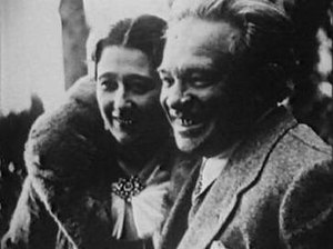 Ottorino Respighi in the 1920s in the company ...