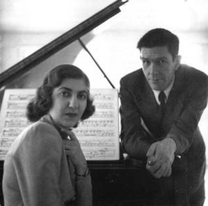 John Cage with the pianist Maro Ajemian, to wh...
