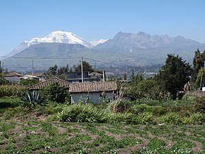 Chimborazo and Carihuairazo seen from the outs...