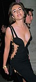 Black Versace dress of Elizabeth Hurley