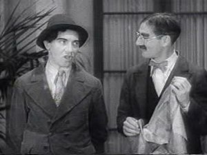 Chico and Groucho Marx during the classic &quo...