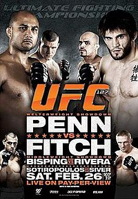 A poster or logo for UFC 127: Penn vs. Fitch.