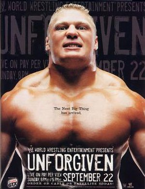 Promotional poster featuring Brock Lesnar