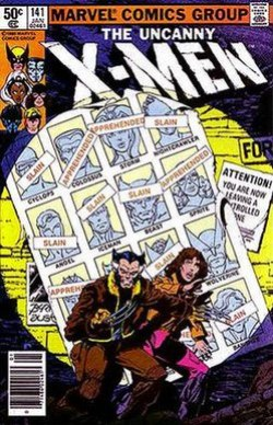 Cover of X-Men vol. 1, 141 (Jan, 1981). Art by John Byrne.