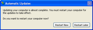 Automatic Updates 'Restart Required' in Window...