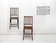 Joseph Kosuth, One and Three Chairs (1965)