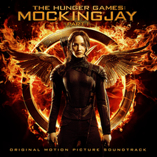 The Hunger Games  Mockingjay  Part 1  soundtrack    Wikipedia Cover art features Jennifer Lawrence in a black bodysuit with the wings  from the film s logo