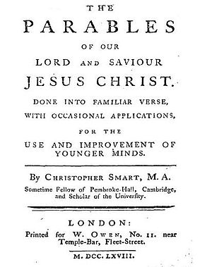 Title page of Parables
