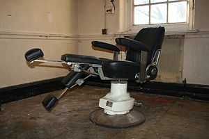 A chair in the dental clinic - the hospital ha...