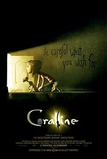 Coraline movie poster from wiki