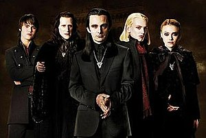 The Volturi, from left to right: Alec, Marcus,...