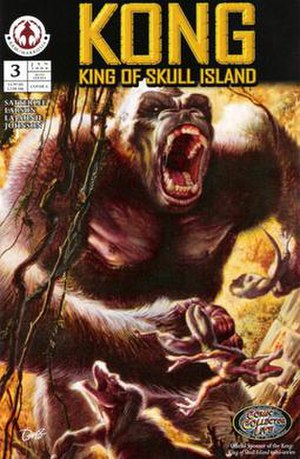 King Kong storms his way through the Skull Isl...