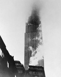 B25 crashed into Empire State Building causing 75-foot elevator drop.