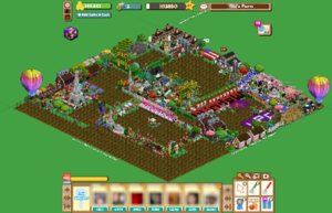 One player's customised farm.
