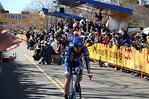 Levi Leipheimer winning Stage 5 of the Amgen T...
