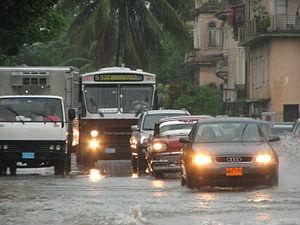 Inundación en la habana