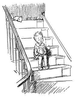 """Ernest Shepard illustration for """"Halfway Down""""."""
