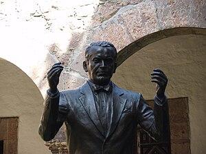 Statue of Miguel Bernal Jiménez at the Conserv...