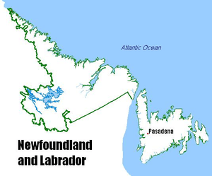 Pasadena, Newfoundland and Labrador Location