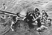 McCain being pulled out of Truc Bach Lake in Hanoi and about to become a prisoner of war on October 26, 1967.