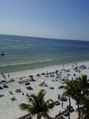 Fort Myers Beach, as seen from the terrace of ...