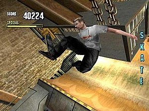 The player, as Tony Hawk, has just collected a...