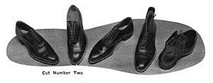 Example of EJ's dress shoes from the 1920s