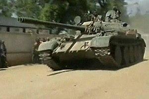 Ethiopian army T-55 tank near Mogadishu