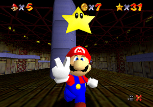 Super Mario 64 featured Mario's first 3D rende...