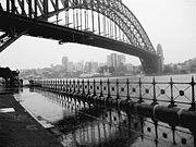 Harbour Bridge in the rain