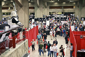View of the Montreal Comiccon 2011 main hall.
