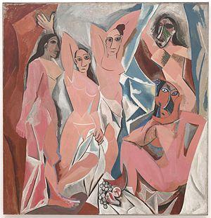 Les Demoiselles d'Avignon. Oil on Canvas (244 ...